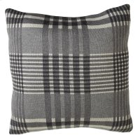 Grey Plaid Pillow. Product Image
