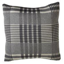 Grey Plaid Pillow.