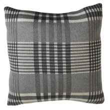 Grey Plaid Pillow.