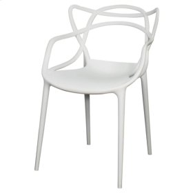 Russell Molded PP Arm Chair, White