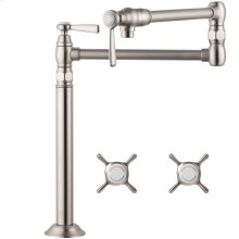 Stainless Steel Optic Single lever kitchen mixer