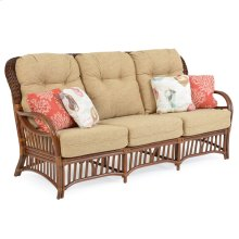 High Back Rattan Sofa Pecan Glaze 5503