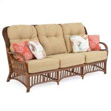 High Back Rattan Sofa Pecan Glaze 5503