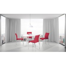 Conway Stacking Chair In Cranapple Fabric, Fully Assembled, 4-pack