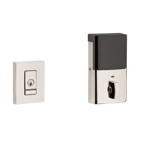 Polished Nickel with Lifetime Finish Evolved Contemporary Deadbolt