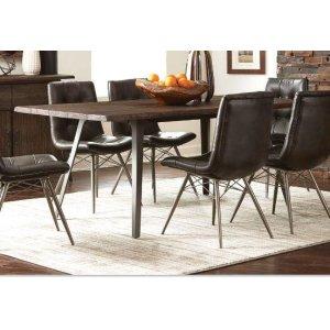 Fremont Industrial Dark Rustic Brown Dining Table