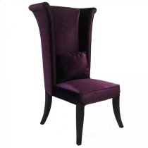 Mad Hatter Dining Chair In Purple Rich Velvet Product Image