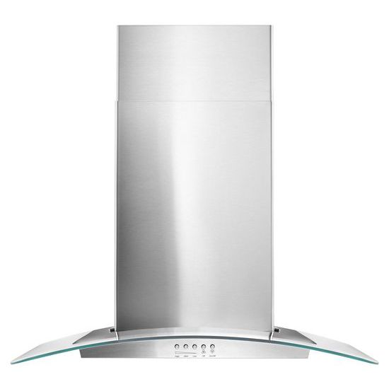"30"" Concave Glass Wall Mount Range Hood - stainless steel