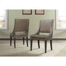 Precision - Upholstered Hostess Chair - Umber Finish