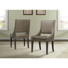 Precision - Upholstered Hostess Chair - Umber Finish
