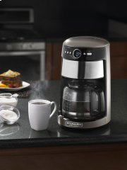 14 Cup Glass Carafe Coffee Maker - Cocoa Silver Product Image