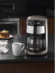 14 Cup Glass Carafe Coffee Maker - Cocoa Silver