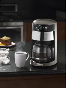 KitchenAid® 14 Cup Architect Glass Carafe Coffee Maker - Cocoa Silver