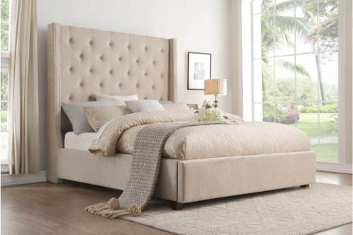 Eastern King Platform Bed with Storage Footboard