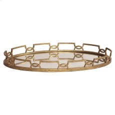 Bright Gold Metal Tray Product Image