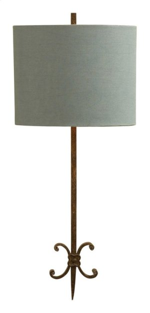Visual Comfort SK2009NR-BL Suzanne Kasler Roswell 2 Light 11 inch Natural Rusted Iron Decorative Wall Light in Blue Linen