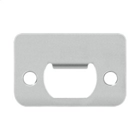 "Strike Plate, 2-1/4"" x 1-1/2"" - Polished Stainless"