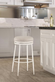 Aubrie Backless Swivel Counter Stool - Off White