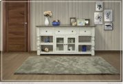 """70"""" TV Stand w/ 3 Drawer & 2 Glass Doors Product Image"""