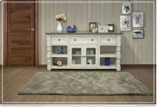 """70"""" TV Stand w/ 3 Drawer & 2 Glass Doors"""