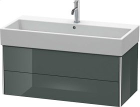 Vanity Unit Wall-mounted, Dolomiti Gray High Gloss Lacquer