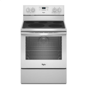 6.4 Cu. Ft. Freestanding Electric Range with AquaLift(R) Self-Cleaning Technology - WHITE