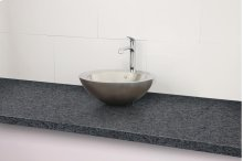 Simin Round Above-counter Stainless Steel Sink - Brushed