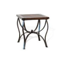 Santa Fe End Table w/ Metal Base