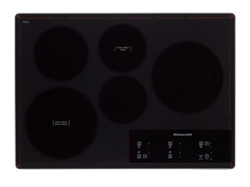 "30"" Electric Cooktop with 5 Elements and Touch-Activated Controls - Stainless Steel"