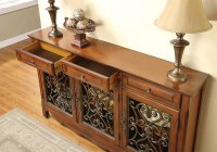 """Walnut"" 3-Door Scroll Console Product Image"