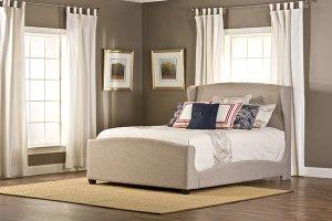 Barrington King Bedset With Fabric Rails