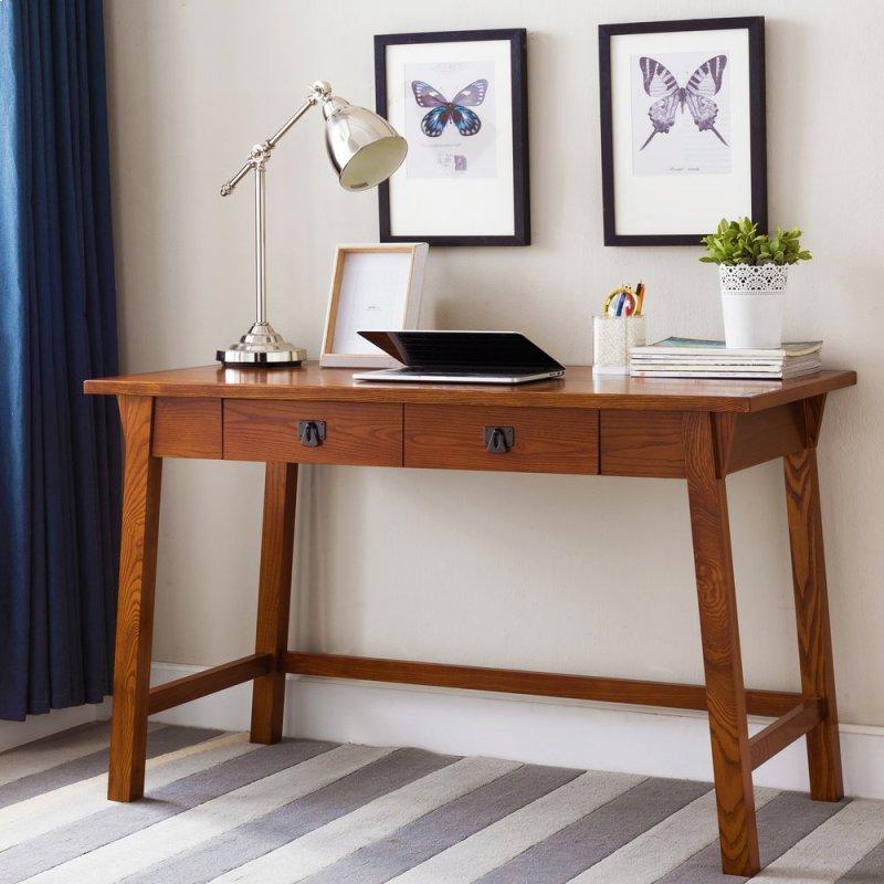 Mission Oak Wedge Corbel Laptop Writing Desk With Center Drawer 82403