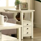 Sullivan - Chairside Table - Country White Finish Product Image