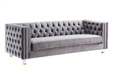 Rimini Grey Velvet Sofa Product Image