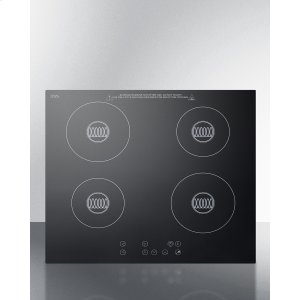 SummitBuilt-in 220 Volt Induction Cooktop With Four Zones and Black Ceran Smooth-top Finish