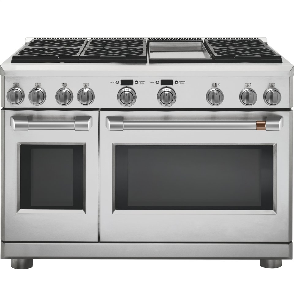 "Caf(eback) 48"" Dual-Fuel Professional Range with 6 Burners and Griddle (Natural Gas)