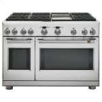 """Cafe48"""" Dual-Fuel Professional Range with 6 Burners and Griddle (Natural Gas)"""