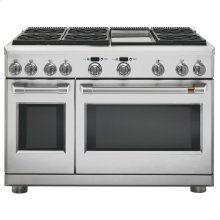 """Café 48"""" Dual-Fuel Professional Range with 6 Burners and Griddle (Natural Gas)"""