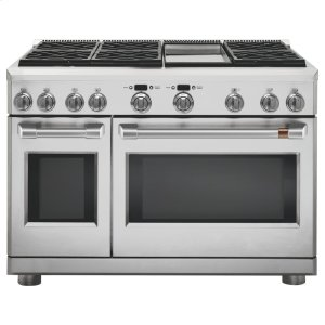 "Cafe AppliancesCaf(eback) 48"" Dual-Fuel Professional Range with 6 Burners and Griddle (Natural Gas)"