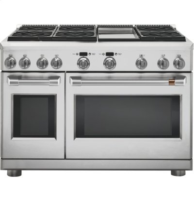"Café 48"" Dual-Fuel Professional Range with 6 Burners and Griddle (Natural Gas) Product Image"