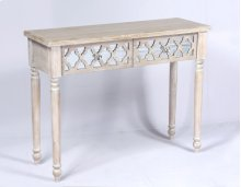 Console Table-weathered Wood Finish W/mirror Accent Su