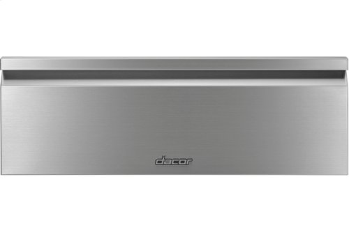 "Heritage 30"" Flush Warming Drawer, Silver Stainless Steel"
