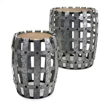 Moxly Galvanized Tables - Set of 2