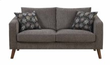Astro - Loveseat Dark Gray W/2 Accent Pillows