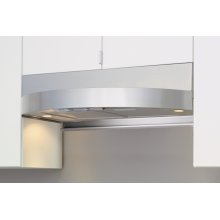 """36"""" Tamburo Under-Cabinet Designer Hood with Crescent-Shaped Body - Stainless Steel"""
