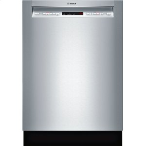 "Bosch24"" Recessed Handle Dishwasher 500 Series- Stainless steel SHE65T55UC"
