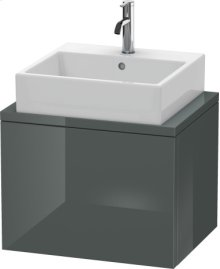 Delos Vanity Unit For Console Compact, Dolomiti Grey High Gloss Lacquer