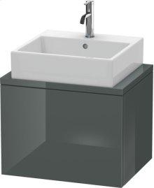 Delos Vanity Unit For Console Compact, Dolomiti Grey High Gloss Lacquer