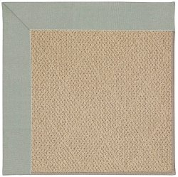 Creative Concepts-Cane Wicker Canvas Spa Blue Machine Tufted Rugs