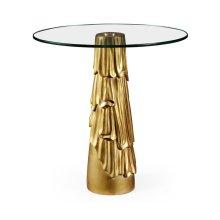 Gilded Antique Gold Leaf Round Drink Table